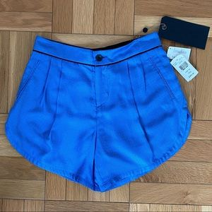 Blue Silk Rag & Bone Shorts